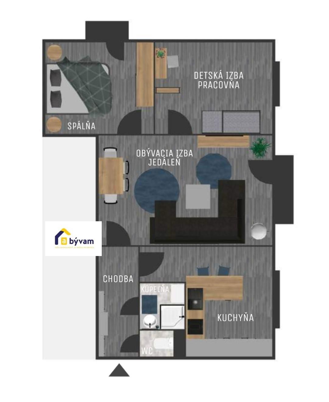 3izb. byt v širšom centre Nitry